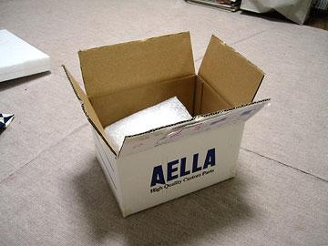 新ステップが入ってきたAELLAの箱