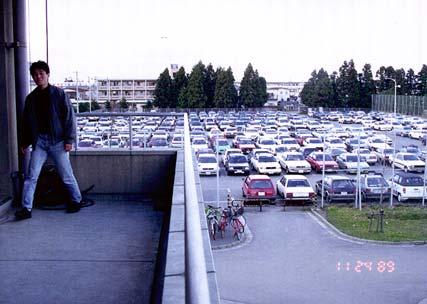 工学部の駐車場